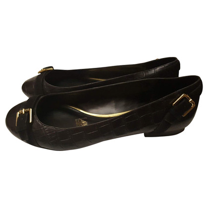 Ralph Lauren Black leather ballerinas