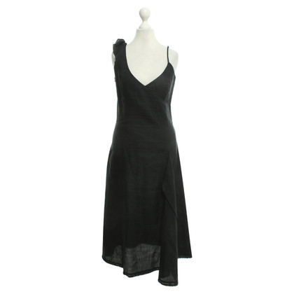 Kenzo Leinen-Kleid in Schwarz
