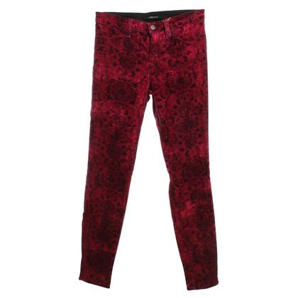 J Brand Pantalon en velours avec motif floral