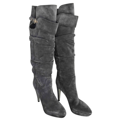 Sergio Rossi High suede boot