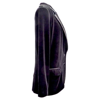 Armani giacca di velluto con Ripsabschlüssen