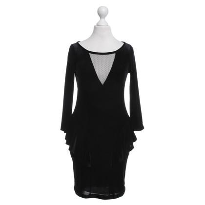 Patrizia Pepe vestito di velluto in nero