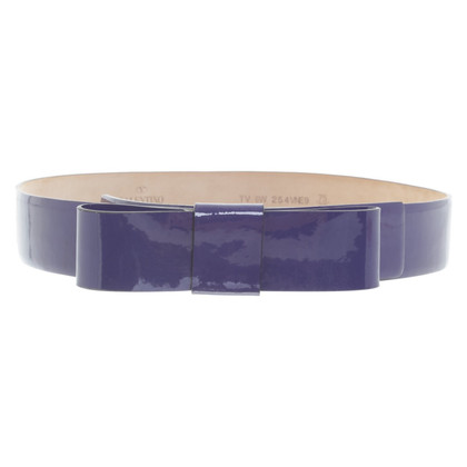 Valentino Patent leather belt in purple