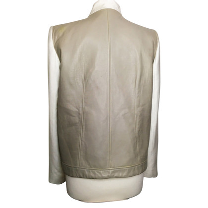 Helmut Lang biker jacket with leather trim