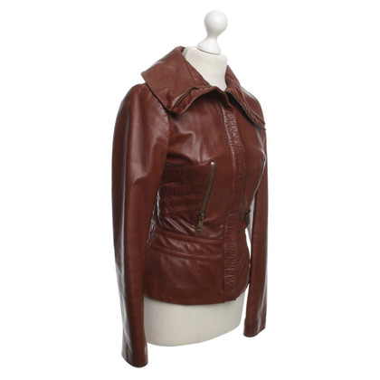 Gucci Leather Jacket in Bruin