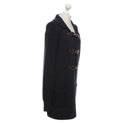 Sport Max cappotto di maglia in blu scuro