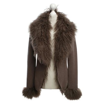 Princess goes Hollywood Cashmere cardigan with fur trim