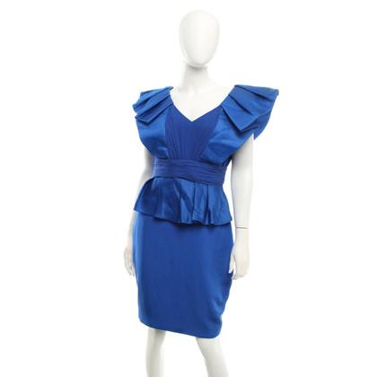 Marchesa Silk dress in royal blue