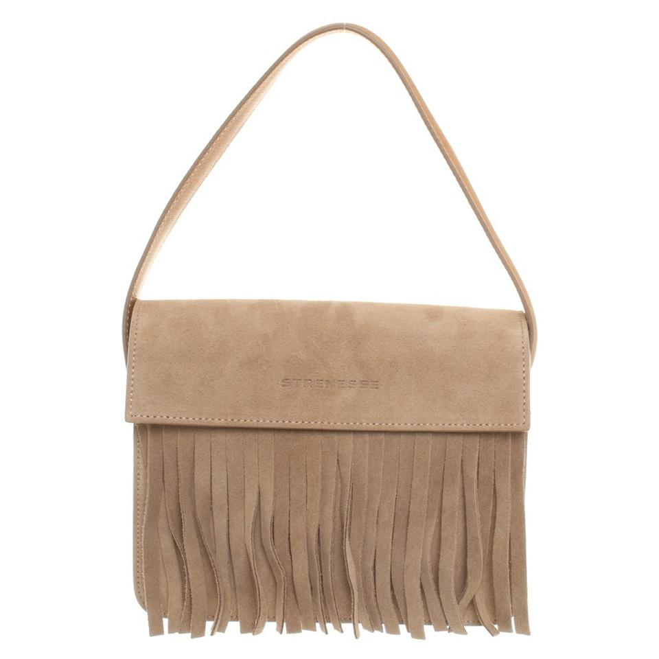 strenesse handtasche mit fransen second hand strenesse. Black Bedroom Furniture Sets. Home Design Ideas