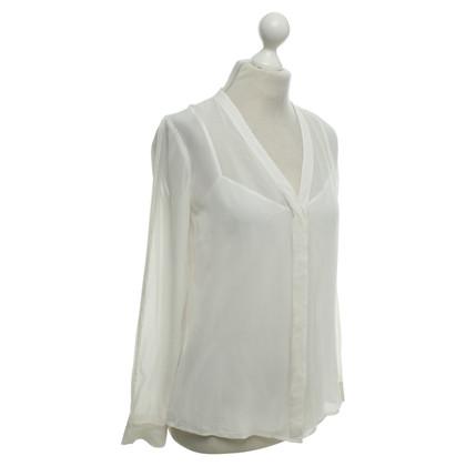 Donna Karan Blusa in crema bianca