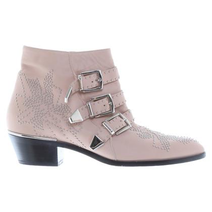 "Chloé ""Susanna"" Boots in Nude"