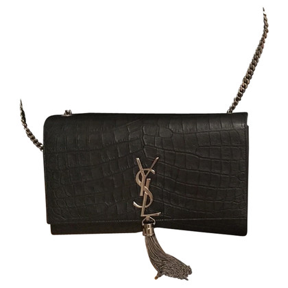 "Saint Laurent ""Monogram Crossbody Bag"" in crocodile optics"