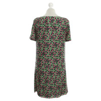 Juicy Couture Abito in seta in verde / rosa / nero