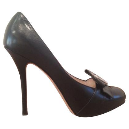 Christian Dior Black Leather Pumps
