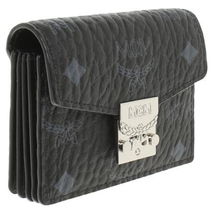 MCM '' Patricia Visetos Card Case '' with logo pattern