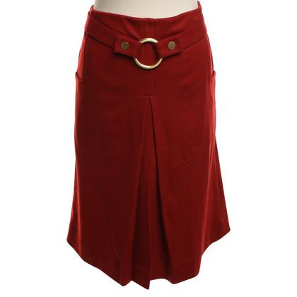 Diane von Furstenberg skirt in red