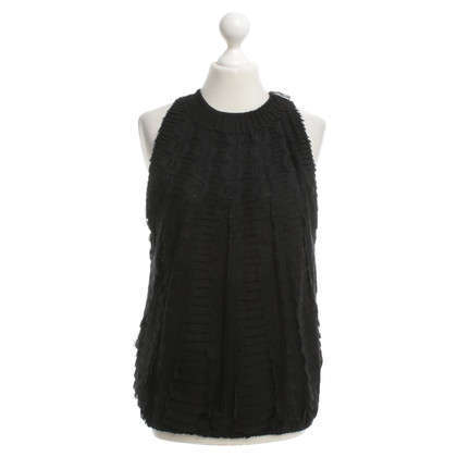 Carolina Herrera Silk top in black