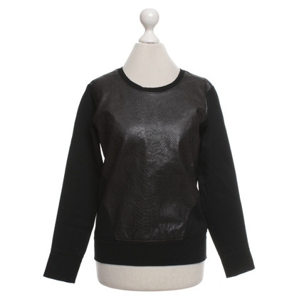 Helmut Lang Sweater with leather trimming