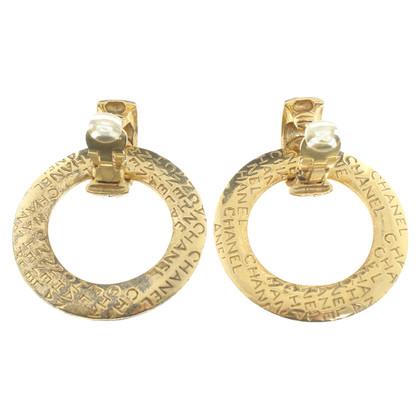 Chanel Clip oorbellen met Debossing