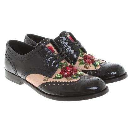 Dolce & Gabbana Scarpe stringate con dettagli floreali