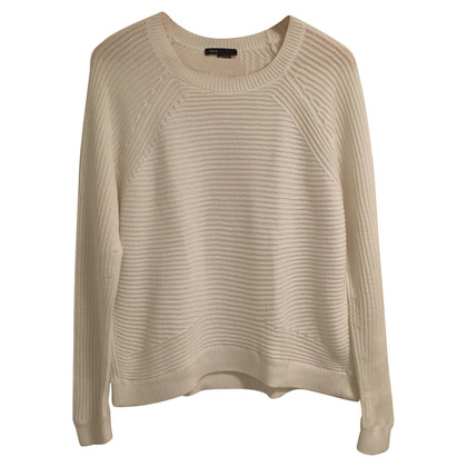 Vince Pullover in cotone bianco