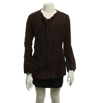 Marni Suede jacket in dark brown