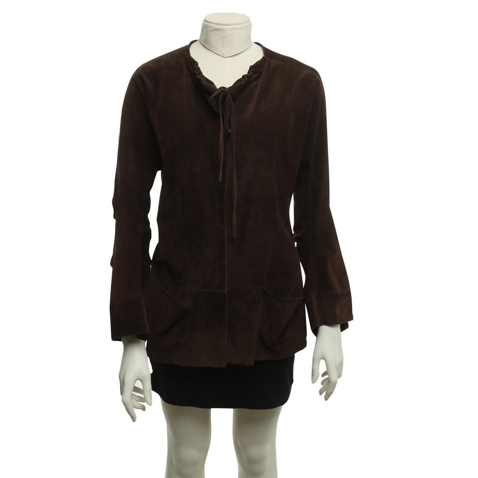 marni veste en daim marron fonc acheter marni veste en daim marron fonc second hand d. Black Bedroom Furniture Sets. Home Design Ideas