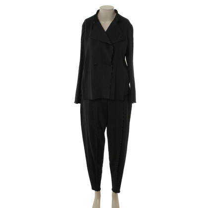 Issey Miyake Trouser suit with Pinstripe pattern