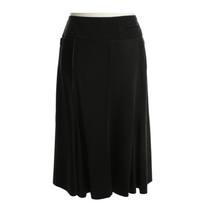 DKNY Wool skirt in black