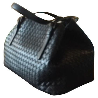 Bottega Veneta BORSA CESTA MEDIA IN INTRECCIATO NAPPA NERO