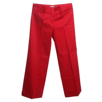Miu Miu trousers in red