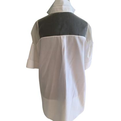 Valentino Blouse à manches courtes en blanc