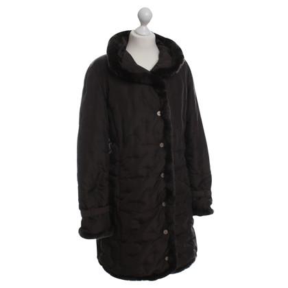 Max Mara Down jacket with fur trim