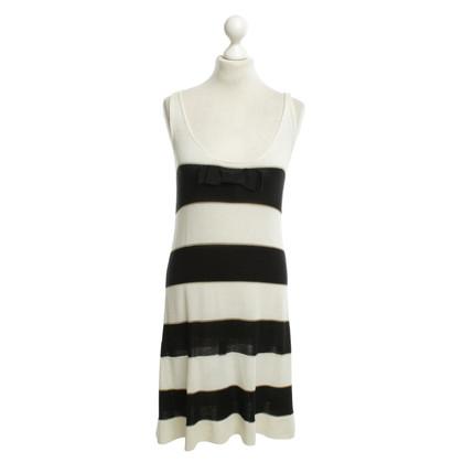 Twin-Set Simona Barbieri Kleid in Schwarz/Weiß