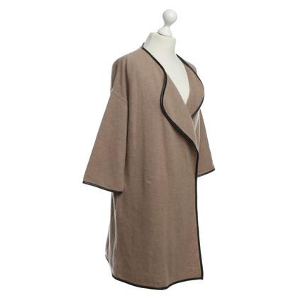 Steffen Schraut Long knit Cardigan in Brown