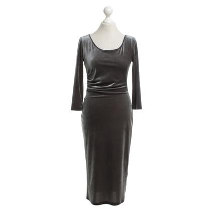 Armani Samt-Kleid in Dunkelgrau