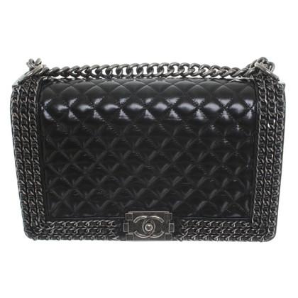 "Chanel ""Boy Bag"" in zwart"