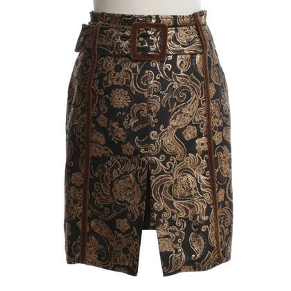 Schumacher skirt with brocade pattern