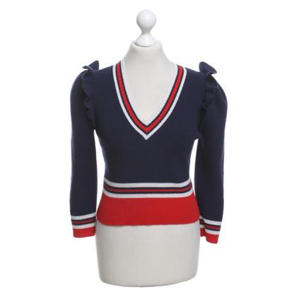 Gucci Maglione di lana in tricolore