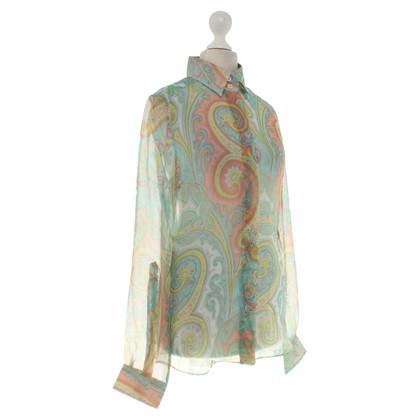 Dolce & Gabbana Paisley pattern silk blouse