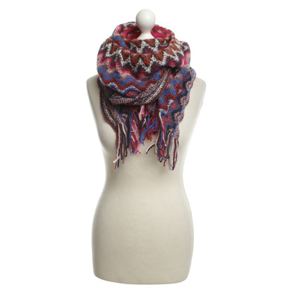 Missoni Knitted scarf with fringes