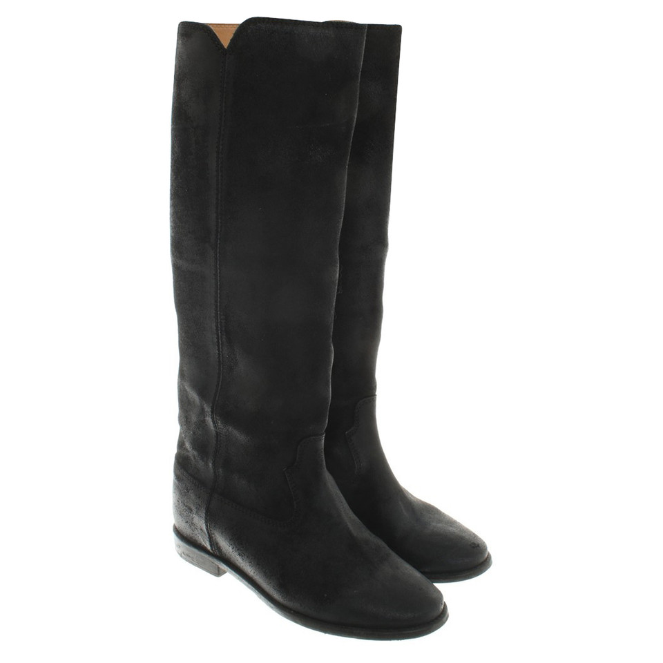 isabel marant black boots buy second hand isabel marant black boots for. Black Bedroom Furniture Sets. Home Design Ideas