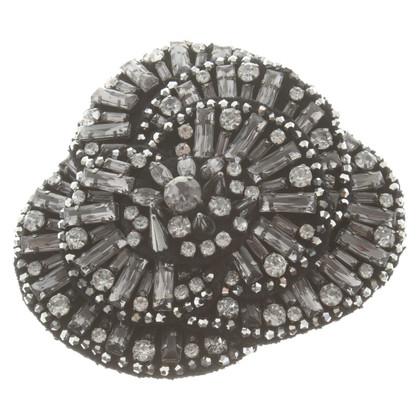 Schumacher Brooch with gemstones
