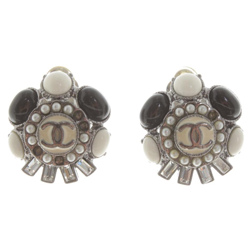 Chanel Clips d'oreilles avec logo