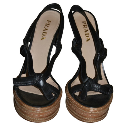 Prada sandales en cuir