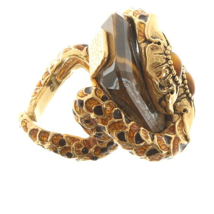 Roberto Cavalli Ring with tiger eye