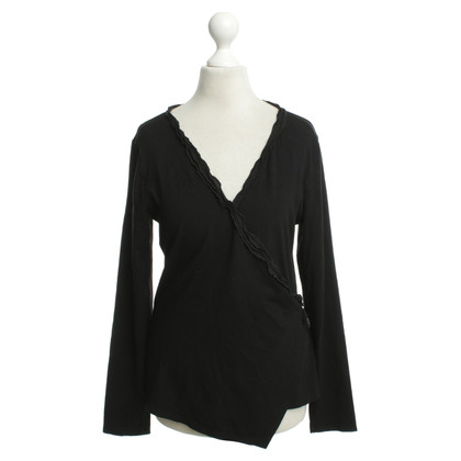 Marc Cain Top in jersey nero