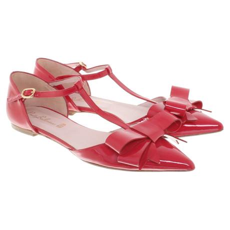 Pretty Ballerinas Sandalen aus Lackleder Rot