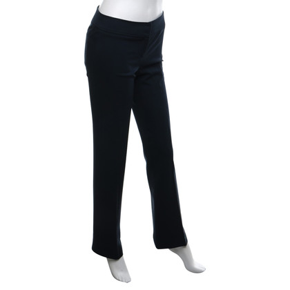 Patrizia Pepe Creased trousers in dark blue