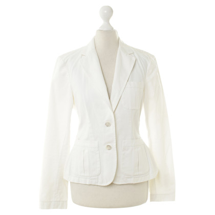 Ralph Lauren white cotton Blazer with mother of Pearl buttons